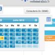 Calendario de turnos, selector de fecha